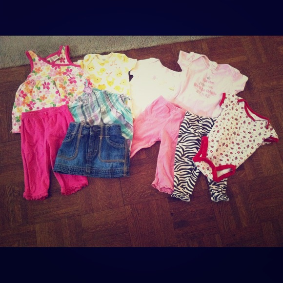 off Tops Bundle of gently used baby clothes from