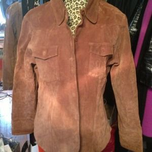 Suede shirt/jacket