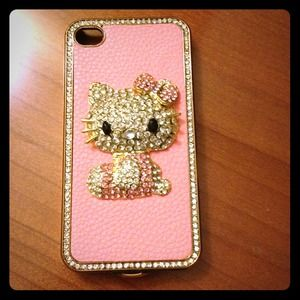New bling bling Hello Kitty iPhone 4/4s case.!!!