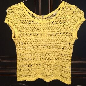 Sunny Yellow Crochet Top