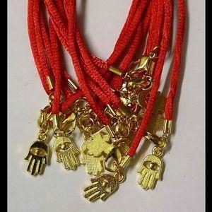 Jewelry - 5 red hamsa bracelets