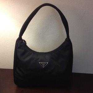 24d529705e12 Prada Bags - Prada Tessuto Black Nylon Handbag