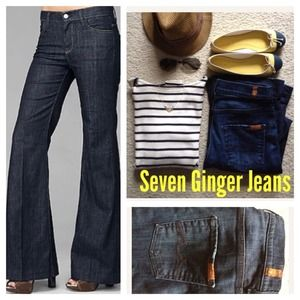 7 for all Mankind Denim - Seven jeans in trouser flare Ginger style.