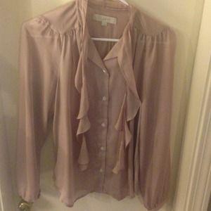 LOFT Tops - LOFT pale pink blouse