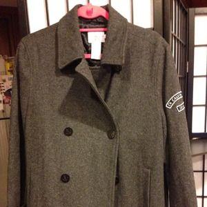 Calvin klein jeans grey wool pea coat-