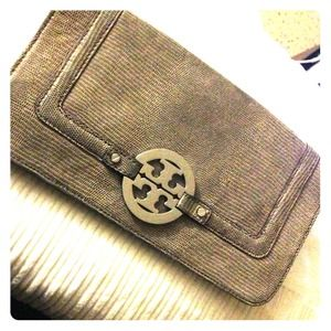 AUTHENTIC TORY BURCH WALLET CLUTCH - Suede pattern