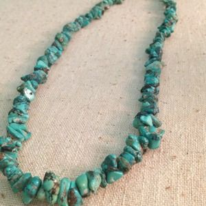 Jewelry - turquoise and sterling silver 925 necklace vintage