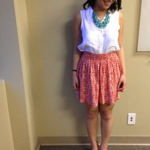 H&M Dresses & Skirts - BUNDLED: Orange and white H&M skirt