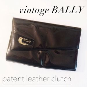 Bally Handbags - VINTAGE Bally Black Leather Clutch