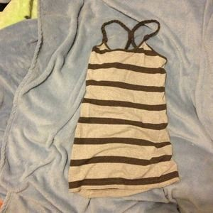 Braided striped top