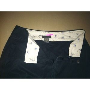 Daaaark navy crop pants
