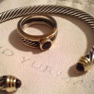 David Yurman Cable bracelet & pinky ring