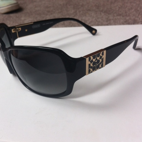 edbdfc80fa7 ... uk price coach nina s494 black sunglasses with case 078fb b6a2c
