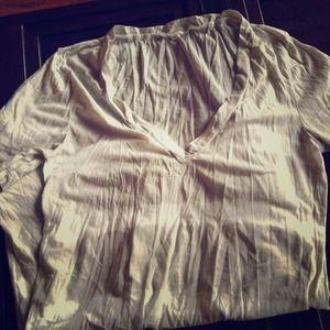 JCrew tie-dye grey and white t-shirt
