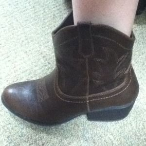 Short Brown Cowboy Boots