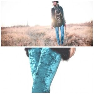 Pants - Aqua crush velvety leggings