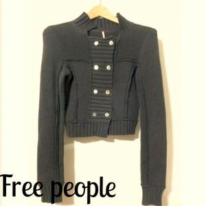❗Reduced❗FREE PEOPLE Dark gray sweater size XS