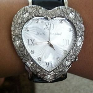 REDUCED Betsey Johnson Heart Shaped Watch