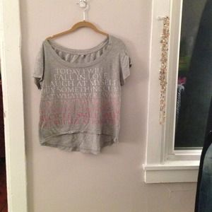 Charlotte Russe top -adorable graphic