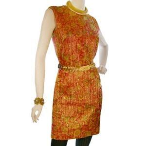 Vintage 1960's Metallic Shift Dress