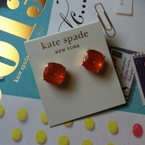 Orange Kate Spade Studs! *NEVER WORN! *