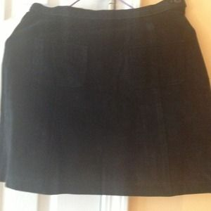 Black suede mini skirt