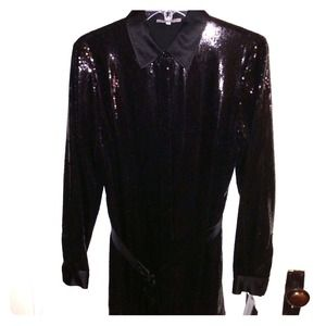 209bec0d21 Dolce and Gabbana authentic leather shoes Anne Klein Black Sequin Shirt    Jacket