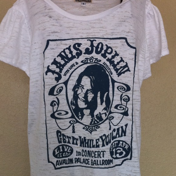Lucky brand Janis Joplin tshirt