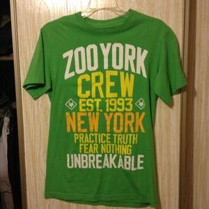 Green Zoo York t-shirt.