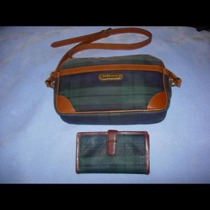 Vintage Ralph Lauren Tartan Purse & Wallet Bundle