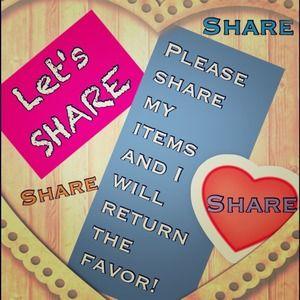 Share, share and share!