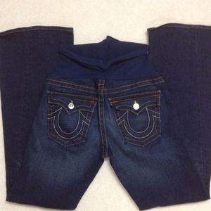 NWOT True Religion maternity jeans.