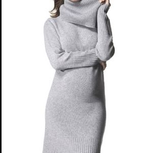 Isabella Oliver sweater dress w/turtleneck.