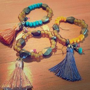 ⚡Sold⚡Mimi Scholer Tassel bracelets