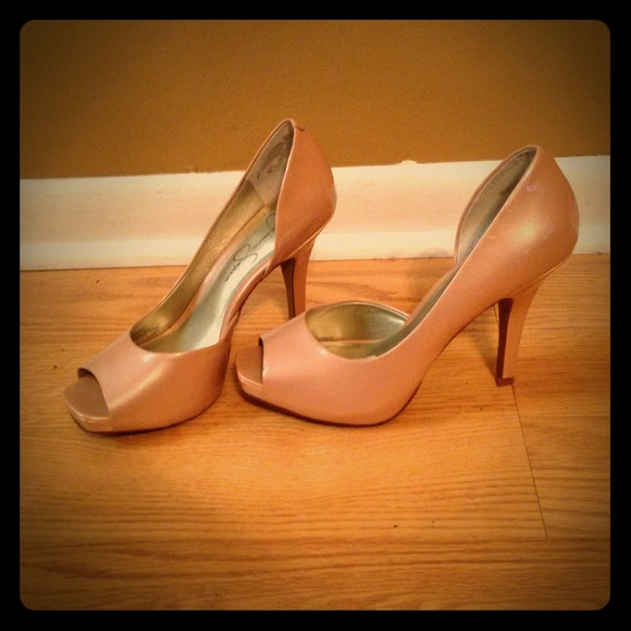 51 Off Jessica Simpson Shoes Patent Leather Nude