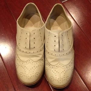 Wanted Shoes - Cream oxfords