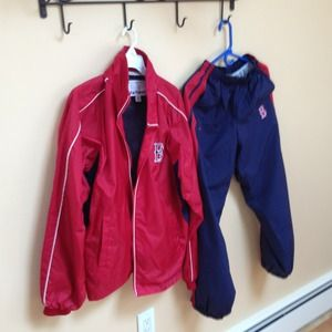 Outerwear - Matching Red Sox wind suit