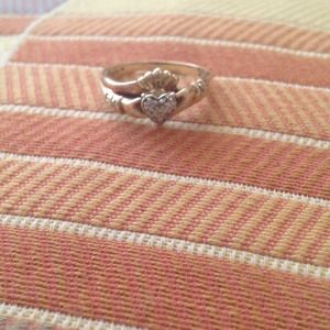 10k Gold Claddagh Engagement Ring