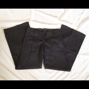Anthropologie Black wide leg trousers pants 6