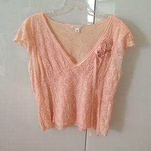 Pink lace Banana Republic shirt