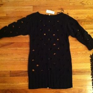 Nwt black long sleeve Bebe cut out dress size p/s
