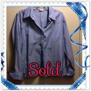 MICHAEL KORS Blue long sleeve shirt
