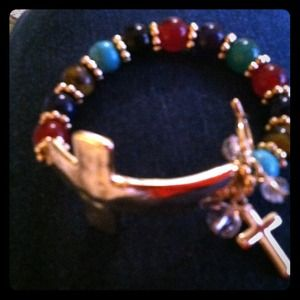Accessories - Sideways cross bracelet