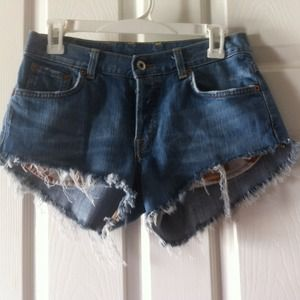 Lucky brand distressed frayed shorts