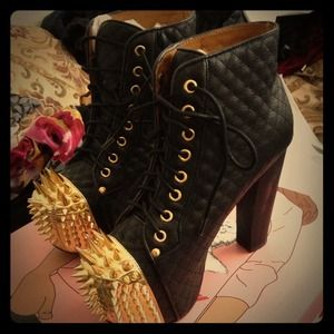 Jeffrey Campbell quilted spiked Lolita's