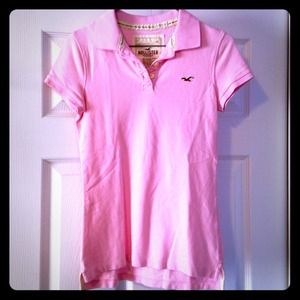 Hi-Lo Polo in Light Pink