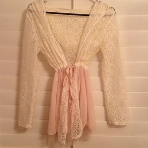 lace and tulle jacket