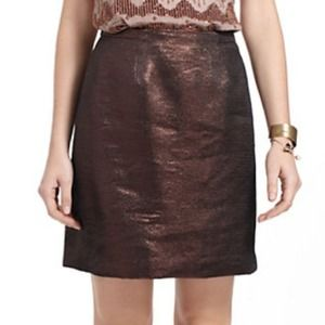 Anthro Mini Sparkle Brocade Skirt