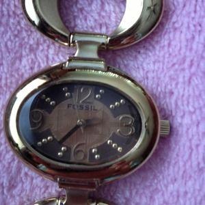 FOSSIL Goldtone Bracelet Watch