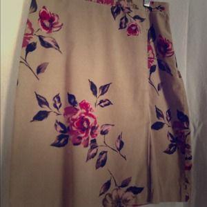 Ann Taylor Stretch Corduroy Skirt. Classic.
